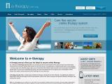 e-therapy website home